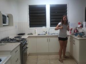 Die eine Hälfte der Küche.